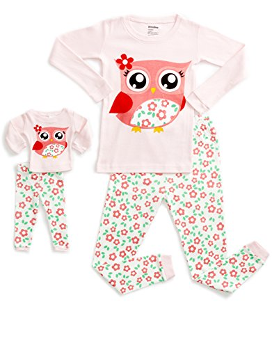 DinoDee Matching Doll Owl Pajama 5 Years