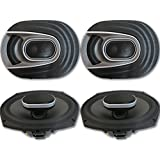 4 x Polk Audio MM 6x9 Inch 3-way Car Audio Boat Motorcycle Ultra Marine Speakers 6x9