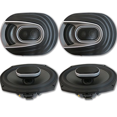 4 x Polk Audio MM 6x9 Inch 3-way Car Audio Boat Motorcycle U