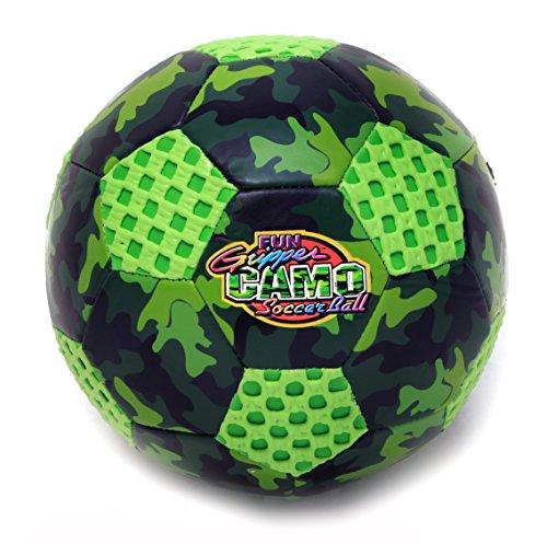 Fun Gripper 8.0 Camo Soccer Ball Size (4) (Green) By: Saturnian I - Gripper Soccer Ball