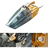 Car Vacuum Cleaner,OLIDEAR Portable 4-in-1 Handheld Wet/Dry Auto Vacuum Cleaner,12v 100W ,Tire Inflation, Detection of Tire Pressure and LED Light with 14.8 Feet (4.5 Meter ) Power Cord