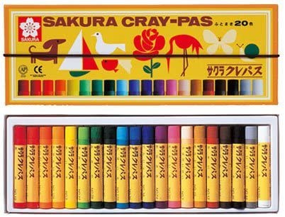 (Gomuhimo With) Five Satz 20 Color Pastel Crayon Rolling Thickly (Japan Import)