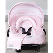 Carseat Canopy 5 pc Whole Caboodle Jersey Stretch - Pink Stripes
