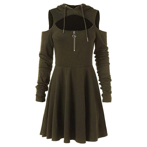 Gothic Kleidung Damen, Oyedens Frauen Kalte Schulter öffnen
