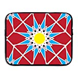 Xyou Geometric Solar Flower Water Repellent Portable Notebook Bag Computer Tablet PC Soft Neoprene Sleeve Case Travel Bag Pouch Protector Cover For Women Men,Apply To 13 Inch 15 Inch Laptop