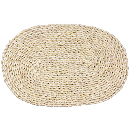 wellhouse Corn Straw Braided Dining Table Mats Extra Thick Coasters Mat Natural Handmade Woven Table Placemat Insulation Resuable Pad
