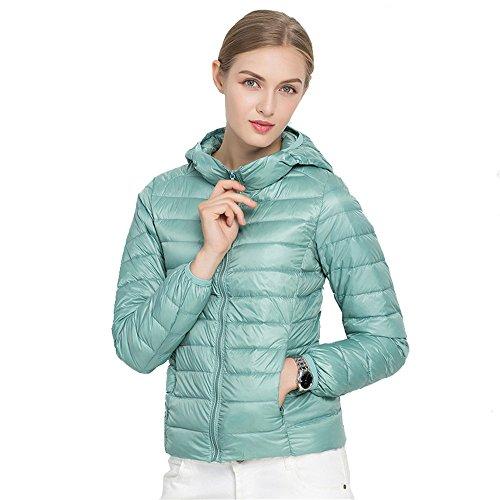 Chaud Parka d'hiver Veste Manteau Lger Doudoune Capuche Ultra Femme Bleu Quibine 81qS0