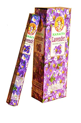 Lavender Incense Sticks From India - 120 Sticks - Made From Natural Scented Oil - Kanaiya Brand By Tikkalife - incensecentral.us