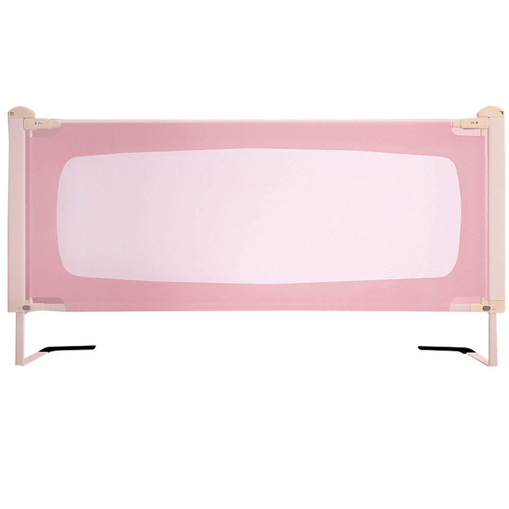 WHAIYAO ベッドレールベッドベゼル子供用クイーンサイズベッドガード幼児のための縦の持ち上がるベッドの柵3色2サイズ (Color : Pink, Size : 180X90CM) 180X90CM Pink B07TY1J6KX