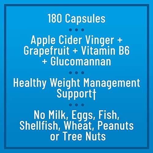 Nature's Instincts Apple Cider Vinegar Capsules | Apple Cider Vinegar + Grapefruit + Vitamin B6 | Weight Management Supplement, 180 Capsules 5