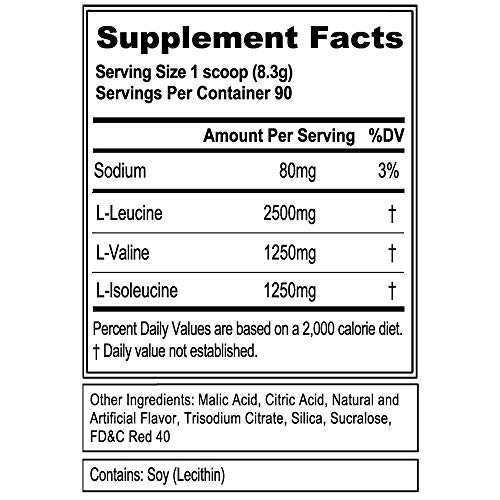 Evlution Nutrition BCAA5000 Powder 5 Grams of Premium BCAAs Cherry Limeade, 90 Servings
