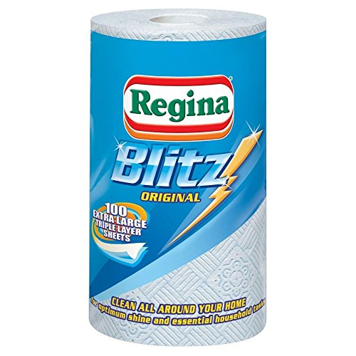 Regina Blitz All Purpose Kitchen Towels - 100 Sheets per Roll - Pack of 2