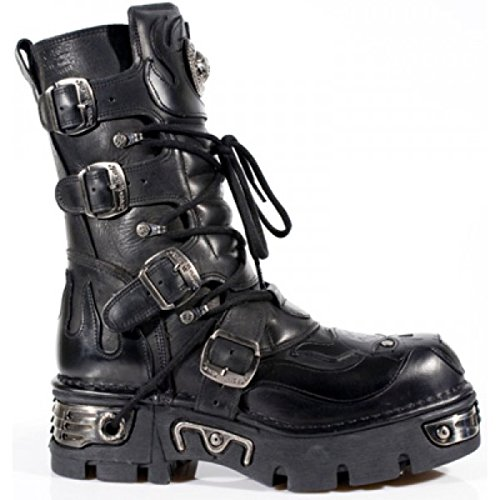 107 METALLIC SKULL Rock 107 BLACK New NEWROCK S3 S3 BOOTS qCwPgn
