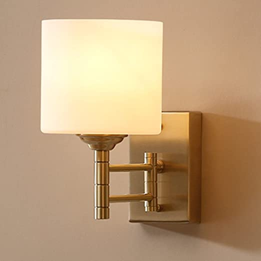 nblyl moderna lámpara de pared sencilla lámpara pared Cobre Cristal Iluminación de Pared para dormitorio dormitorio Escalera Aisle Veranda E27 (sin fuente de luz): Amazon.es: Iluminación