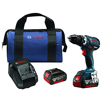 Image of Bosch DDS183-01 18V Lithium-Ion Brushless Compact Tough 1/2' Drill/Driver Kit Home Improvements