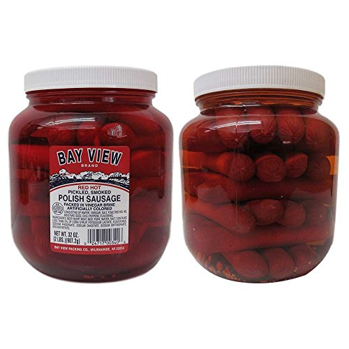 Gourmet Red Hot Pickled Polish Sausage - 2 (Low Fat Sausage)