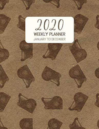 2020 Weekly Planner January to December: Dated Diary With To Do Notes & Inspirational Quotes - Zither (Vintage Music Calendar Planners)