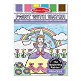Melissa & Doug Paint With Water - Princess, 20 Perforated Pages With Spillproof Palettes