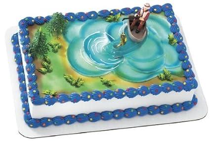 Amazon Fishing Action Set Cake Decorating Kit 4 Pieces Toys