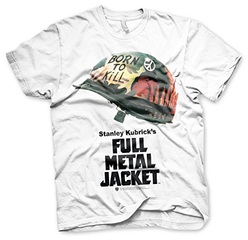 Officially Licensed Full Metal Jacket Poster Allover T-Shirt (White), Small