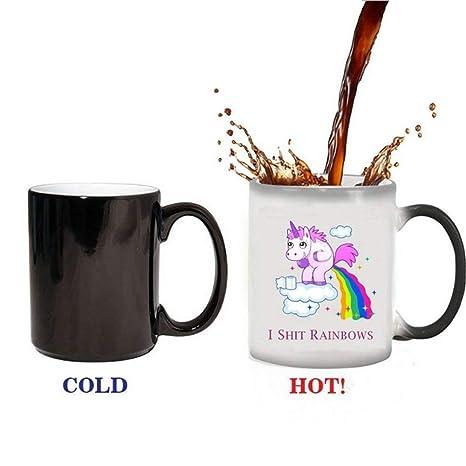 Frauenthermische Tassen Farbwechsel Keramik Für Einhorn Tassen Kaffeetasse überraschung Männer regenbogen Kaffee Hitze Geschenk Becherpott 0PX8ONnwk