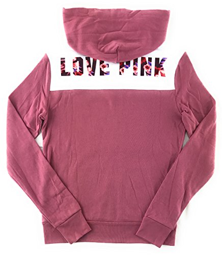 Victoria's Secret Pink Perfect Zip Hoodie Soft Begonia Large