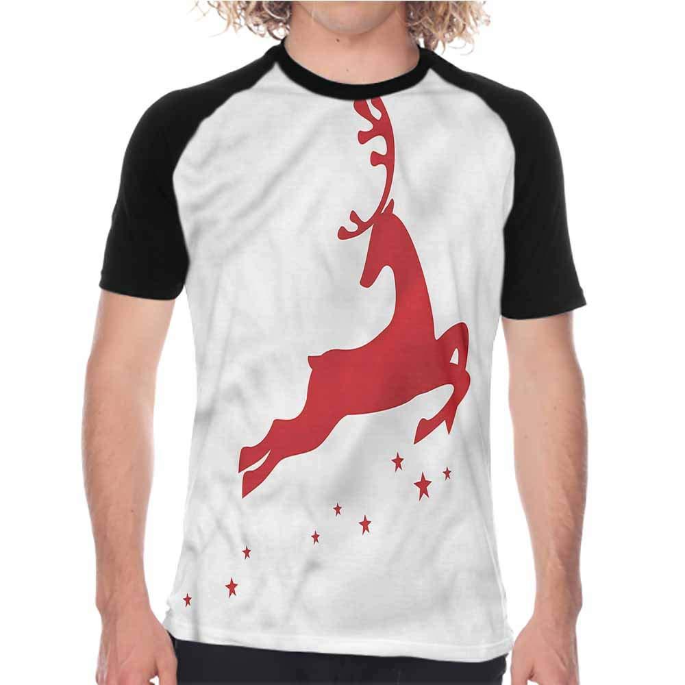 Red Mandala,Casual Mens Shirts Rural Twigs Blooms,Baseball Print Casual O-Neck Tops