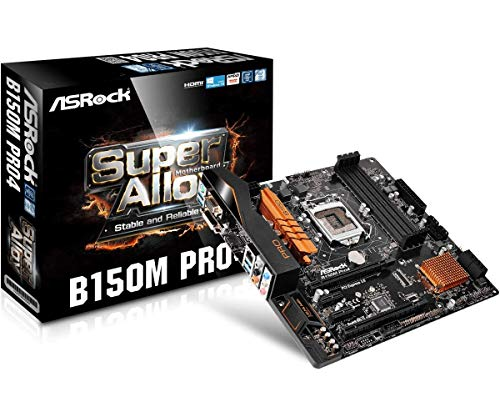 ASRock B150M Pro4 Micro ATX DDR4 Intel Socket 1151 USB 3.0 Motherboard ()