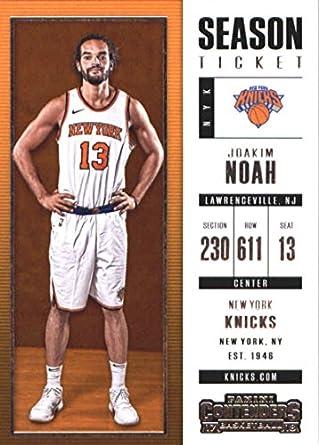 f6a6b9920e1 2017-18 Panini Contenders Season Ticket  71 Joakim Noah New York Knicks  Basketball Card