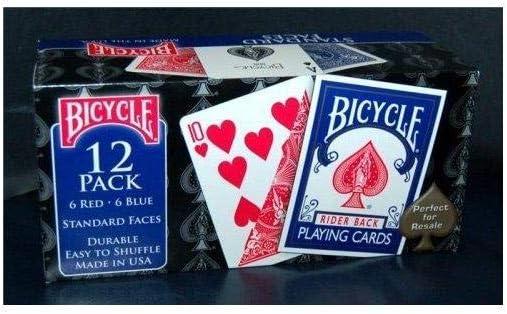 Bicycle Caja de Barajas Standard (6 Rojo / 6 Azul): Amazon.es ...
