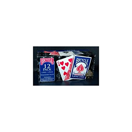 12 Decks Bicycle Playing Cards, Players Pack, Poker, Standard Faces, Rider Back
