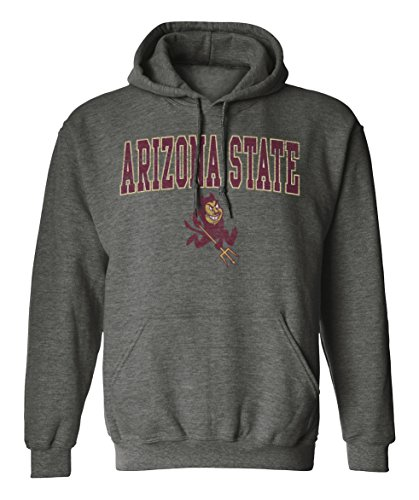 NCAA Arizona State Sun Devils Pigment Dye Pullover Hood, Large, Dark Heather (Devils Mens Sweatshirts)