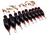 10pcs Fishing Carolina Ready Rigs with Brass bullet weights
