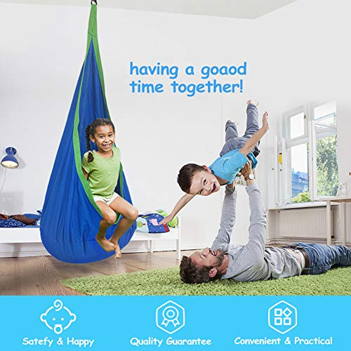 Surprising Kids Pod Swing Seat Hammock For Indoor And Outdoor Hanging Camellatalisay Diy Chair Ideas Camellatalisaycom