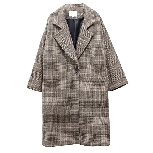 ZRLsly The New Winter Coat Retro Long Woolen Coat S Coffee Color