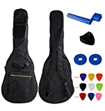 YMC 41 Inch Waterproof Dual Adjustable Shoulder Strap Acoustic Guitar Gig Bag 5mm Padding Backpack with Accessories(Picks, Pick holder, Strap Lock, String Winder) --For 40'' & 41-Inch Acoustic Guitar