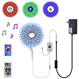 32Ft 10M 600LEDs DC 12V Waterproof RGB LED Strip Tape Light Plug-N-Play Kit incl Bluetooth App Controller and Power Supply