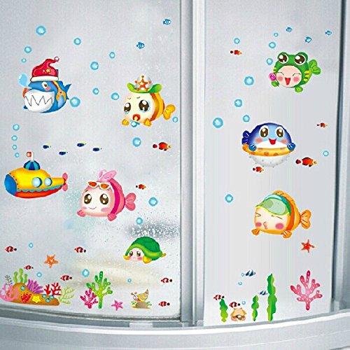 Wasserdicht Abnehmbare Wandaufkleber Fur Kinder Raum Deko Badezimmer
