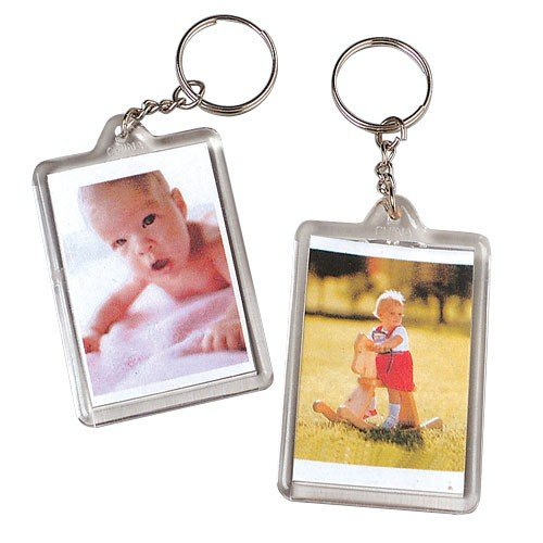 Photo Key Chains wallet size 1 in. x 2 in. photo 12/Pk (Picture Keychains)