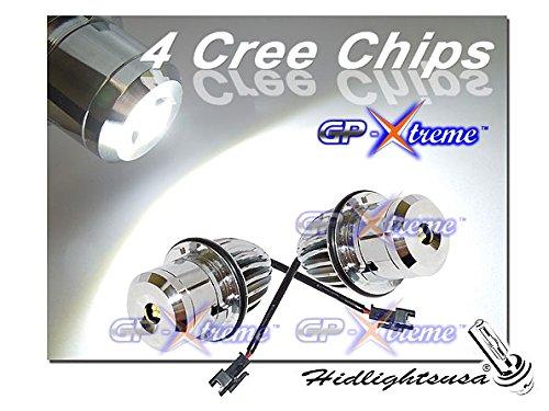 GP Xtreme BMW Super White 4 Cree LED Angel Eyes Halo Ring Converter Kit for BMW E39 E60 E6 E63 E65 M5 540 X5 (E39-CR-32W)