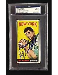 JOE NAMATH SIGNED BROADWAY 1965 TOPPS ROOKIE CARD MINT 9 Auto RC NY JETS - PSA/DNA Certified - 5