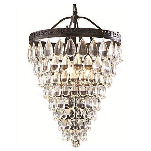 Modern Single Light Cone (allen + roth Eberline 12.76-in Oil-Rubbed Bronze Crystal Single Crystal Cone Pendant)