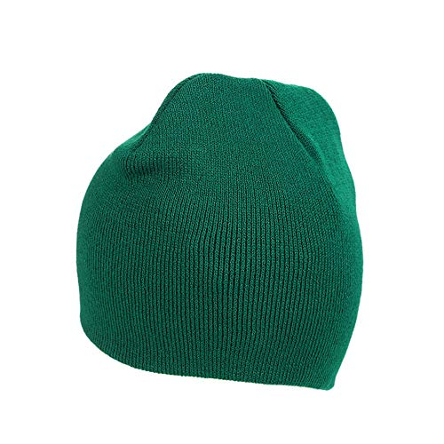 Pinkpum Beanie Skull Cap Winter Warm Knitting Hats Wool Green