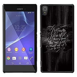 LECELL--Funda protectora / Cubierta / Piel For Sony Xperia T3 -- tener sentido --