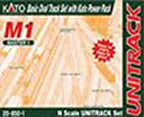 Kato USA Model Train Products M1 UNITRACK Basic Oval with Kato Power Pack