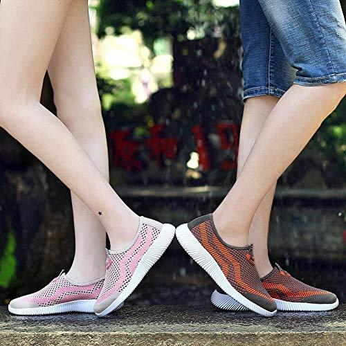 Pieds Foncé Plein 42 Tissées Décontractées Baskets Taille Oudan Respirants coloré Gris Ensembles Chaussures Air Volantes Foncé Mode De Paire Paresseuses ad1w0q