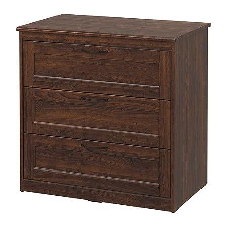 IKEA 303.667.62 Songesand - Cómoda con 3 cajones, color marrón ...