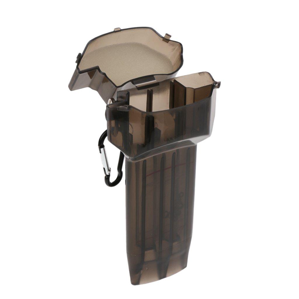 perfk Transparent Darts Case Darts Schutzbox Kunststoffbox Schl/üsselanh/änger