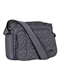 Lug Wings Cross Body Bag, Brushed Grey, One Size (Model:4484)