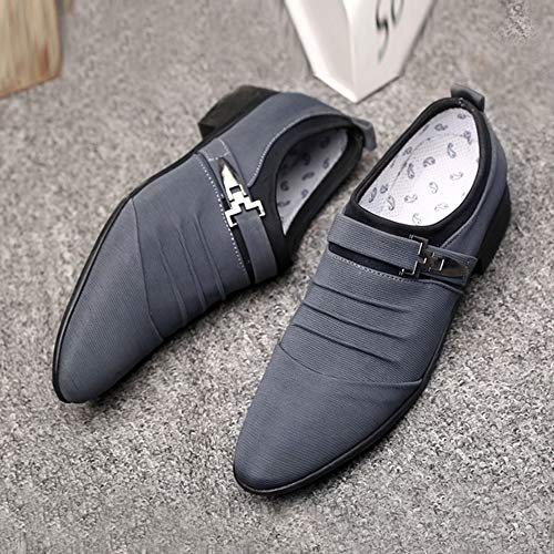 Uomo Shoes Business Sneakers Pointed Da Sportive Grigio Antiscivolo Formal Corsa Stringate Ginnastica Toe Scarpe Outdoor Oyedens 87qIUU